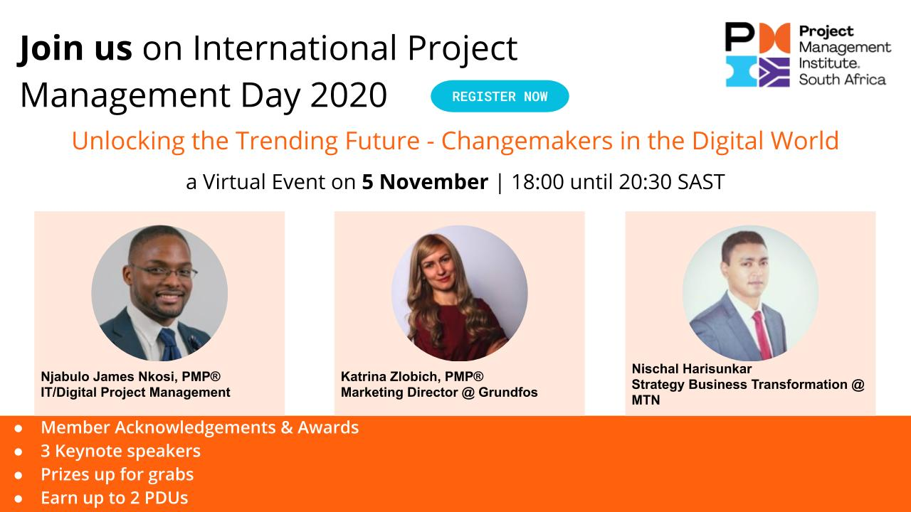 PMI South African Chapter celebrates International Project Management Day 2020